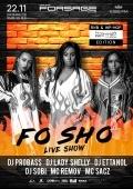 Вечеринка «Black Friday! Fo Sho live show»