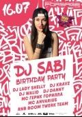 «Dj Sabi Birthday party» в «Forsage»