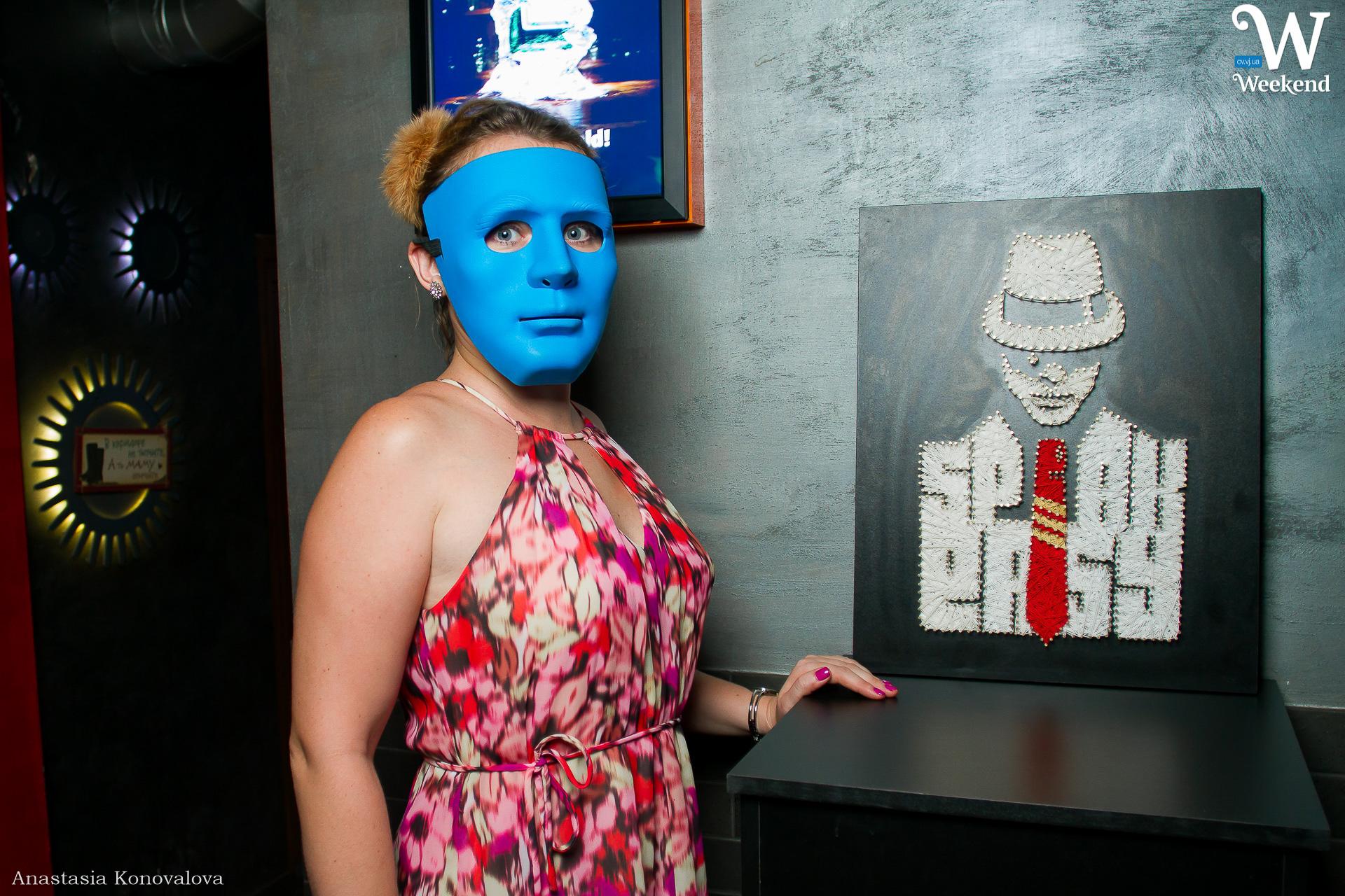 Синя маска у Drink-бар